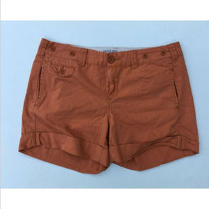 Paper Boy Cotton Pocket Shorts Rust Orange Size 8